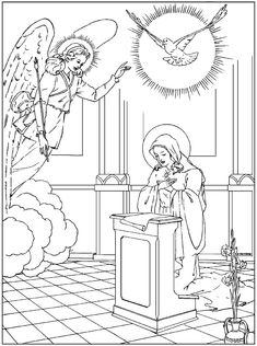 Immaculate Conception Coloring Pages Coloring Book Pages, Printable Coloring Pages, Coloring Pages For Kids, Catholic Crafts, Catholic Kids, Catholic Homeschooling, Rosary Catholic, Catholic School, Rosary Drawing