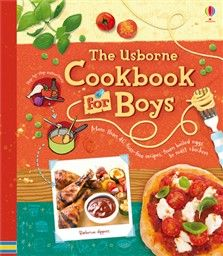 Usborne Cookbook for boys by Abigail Wheatley 641.5  WHE A delightful book packed full of simple, delicious recipes boys will love to cook. A wide-ranging cookery book of simple and tasty recipes, sweet and savoury, to help you learn to cook.