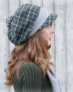 Slouchy Flannel Hat! Perfect for Winter!!! Handmade by Jaya Lee. #plaid #flannel #winterhat