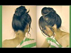 ★CUTE MUSTACHE HAIR BUN FOR SHORT, MEDIUM, LONG HAIR TUTORIAL |DIY UPDO HAIRSTYLES FOR  SCHOOL PROM