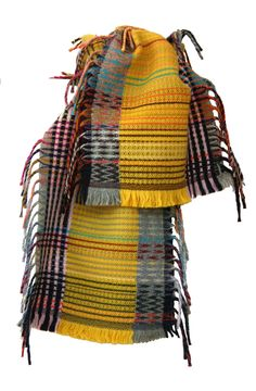 Yellow & grey, must remember that/ Wool Amp Cashmere Tippets — Scarves — wallacesewell.com