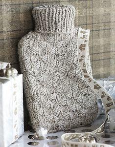 Ravelry: #32 Hot Water Bottle Cozy pattern by Annabelle Speer