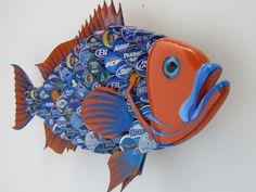 University of Florida Bottlecap Art Metal Bottle Cap by EricsEasel