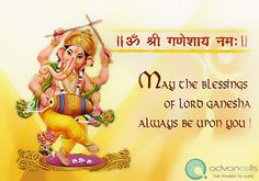 Wish you a Happy and a Blessed Ganesh Chaturthi 2014...!!!