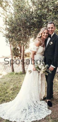 A-line Lace Off the Shoulder Beach Vintage Wedding Dresses WD0479  #weddingdresses #weddingdress #bridalgown #weding #bridaldress #laceweddingdress #fashion #Ballgown #Country #boho #Princess #modest Bridal Dresses, Wedding Gowns, Bridesmaid Dresses, Prom Dresses, Off The Shoulder, Ball Gowns, Tulle, Popular, Silk