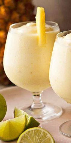 Frozen Pineapple Daiquiri ~ with or without the rum  {wineglasswriter.com/}