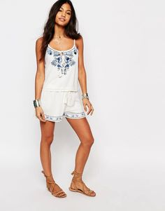 Boohoo+Embroidered+Shorts+Co+-Ord
