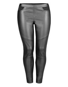 Brands | Leggings | Plus Pull Up Front Leggings With Front Cuts | Hudson's Bay