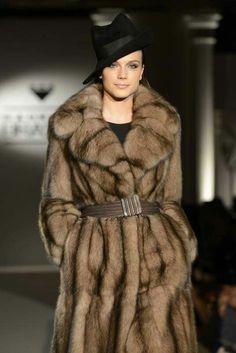 Sable fur coat :: Russian Siberian Sable fur #anandco #furfashion #furonline