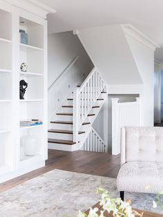 Painted Stairs, Wood Stairs, House Stairs, Front Stairs, Basement Stairs, Brisbane, Melbourne, Foyer Design, Staircase Design