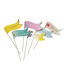 Alice In Wonderland Food Flags; We're All Mad Here Baby Shower; Talking Tables Alice in Wonderland; Food Pick cupcake by on Etsy Tea Party Decorations, Decoration Table, Party Themes, Party Ideas, Theme Parties, Alice In Wonderland Food, Party Canapes, Cupcakes Flores, Tea Party Supplies
