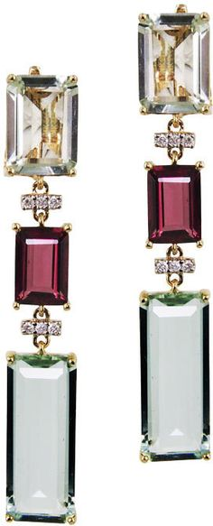 """Shop for Plukka """"Prismatic"""" Green Amethyst Dangle Earrings at ShopStyle. White Burgundy, Burgundy Wine, Marsala, Pink Earrings, Dangle Earrings, Coral Pink, Lilac, Diamond Are A Girls Best Friend, Wedding Jewelry"""