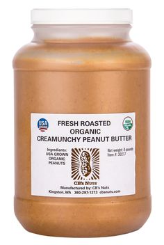 CB's Nuts Organic Creamunchy Peanut Butter, 4 x 8 lb What Is Healthy Food, Healthy Meals To Cook, Healthy Diet Recipes, Peanut Butter Brands, Organic Peanut Butter, Peanut Butter Ingredients, Calorie Diet, Food Hacks, Butter