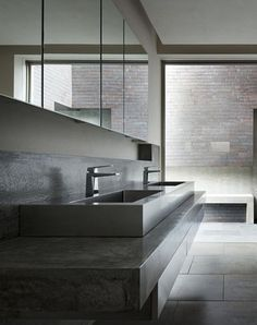 Bathroom in the House of Silence, by FORM/ Kouichi Kimura Architects.