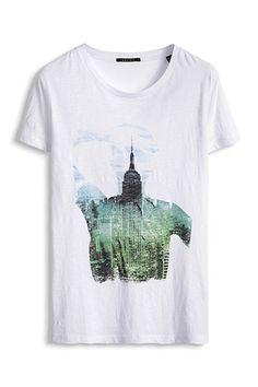 www.davidemartini.ink for Esprit / Gerades Print T-Shirt, 100% Baumwolle