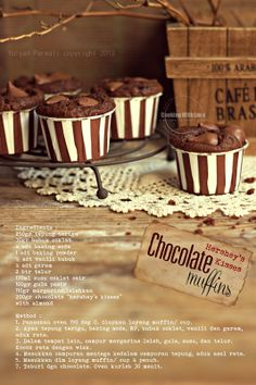 Cooking With Love: Hershey's Kisses Chocolate Muffins Cake Cookies, Cupcake Cakes, Cupcakes, Cherry Merry Muffin, Cake Recipes, Snack Recipes, Snacks, Hershey Kisses Chocolate, Resep Cake