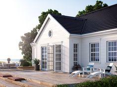 New England Style New England Style, New England Hus, Deco Design, White Houses, House Goals, Home Fashion, Porches, My Dream Home, Outdoor Spaces