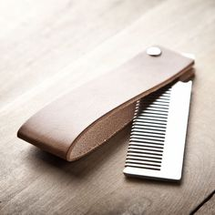 Fancy | Steel Comb and Leather Sleeve by Mr. Lentz