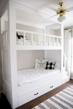 20 cool bunk beds for the coolest siblings of all time - mybabydoo 20 . - 20 cool bunk beds for the coolest siblings ever – mybabydoo 20 cool bunk beds for the coolest sib - Bunk Beds For Girls Room, Beds For Small Rooms, Bunk Bed Rooms, Bunk Beds Built In, Modern Bunk Beds, Bunk Beds With Stairs, Cool Bunk Beds, Kids Bedroom, Built In Beds For Kids