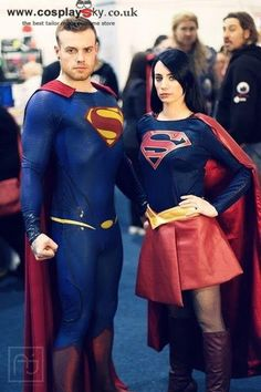 Supergirl and Superman Cosplayer: sarah mills and her partner http://cosplaysky.co.uk/justice-league-superman-cosplay-costume-deluxe-version.html http://cosplaysky.co.uk/supergirl-cosplay-costume-deluxe-version.html