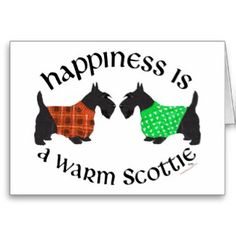 Black Scottish Terriers Happiness Cards