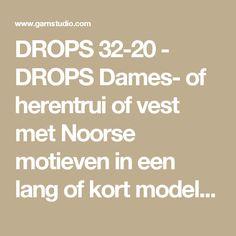 """DROPS 32-20 - DROPS Dames- of herentrui of vest met Noorse motieven in een lang of kort model van """"Karisma"""". Bijpassende sokken, muts, hoofdband en wanten van """"Karisma"""". - Free pattern by DROPS Design"""