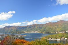 Stunning scenery of Kawaguchi Lake Yamanashi Prefecture Japan. Fuji mountain nearby areas.