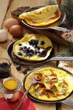 Après les fêtes, grâce à nos amis les #oeufs, on s'prend pas la tête : nos 3 #recettes d'#omelettes gourmandes ! Omelettes, Nutrition, Camembert Cheese, Pancakes, Dairy, Breakfast, Html, Ethnic Recipes, Food