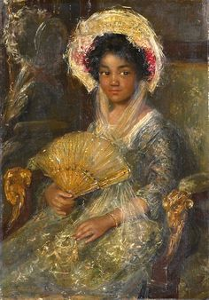 Simon Willem Maris Portrait of a Young Black Woman Netherlands 44 x 29 cm. Rijksmuseum, Amsterdam The Image of the Black in Western Art Research Project and Photo Archive, W. Du Bois Institute for African and African American. African American Art, African Art, Black Women Art, Black Art, Black Girls, Black History, Art History, European History, Art Noir