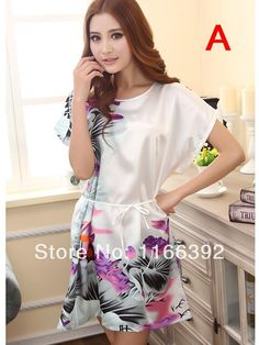 dd4330404d New Arrival Womens Casual Nightdress Pajamas Lingerie Ladies Intimates  Rayon Sleepwear Robes Hot Sell