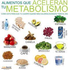 Alimentacion para acelerar el metabolismo