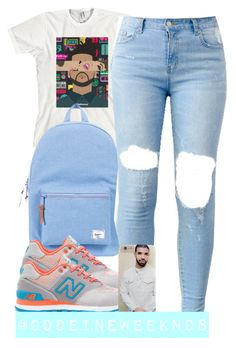"""8:1:15"" by codeineweeknds ❤ liked on Polyvore featuring Herschel Supply Co. and New Balance"