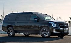 Becker Auto Design's stretched Cadillac ESV comes with bespoke sound and lighting Cadillac Escalade, Private Jet, Automotive Design, Cool Cars, Stretches, Vehicles, Interior, Image, Indoor
