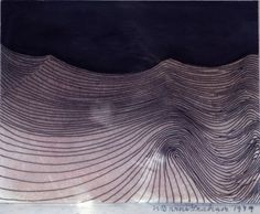'Linear Movement Pink and Black' by Wilhelmina Barns-Graham