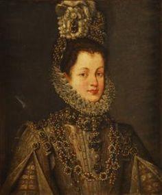 Carculo De Alonso Sanchez Coello - Retrato De La Infanta Isabel Clara Eugenia