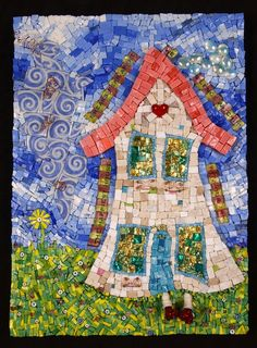 The Happiest House, mosaic by Pamela Goode
