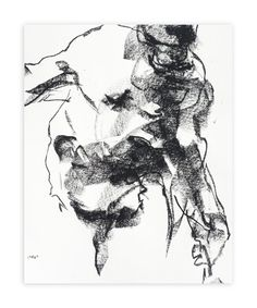 """""""Drawing 264 - Gesturing Man"""" - Art Print by Derek overfield in beautiful frame options and a variety of sizes."""
