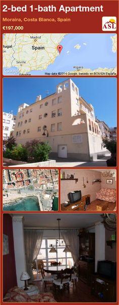 2-bed 1-bath Apartment in Moraira, Costa Blanca, Spain ►€197,000 #PropertyForSaleInSpain