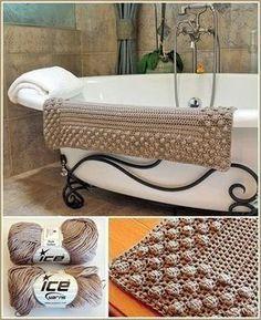 Pretty Puff Bath Mat - Free Crochet Pattern - (stonefacecreations) ~W~ Pull Crochet, Stitch Crochet, Love Crochet, Diy Crochet, Crochet Crafts, Crochet Projects, Single Crochet, Crochet Rugs, Quick Crochet