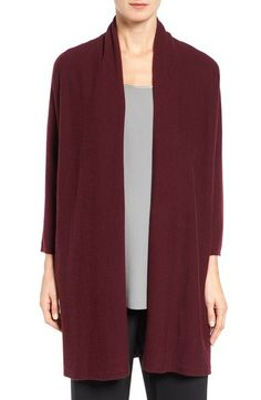 Eileen Fisher Fine Gauge Cashmere Long Cardigan available at #Nordstrom
