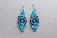 OCEAN EYES - earrings soutache. $12.00, via Etsy.