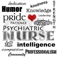 Psychiatric Nurse Pride/Attributes+Red Heart Perfo on CafePress.com