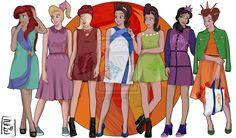 Disney University - Triton's daughters by Hyung86.deviantart.com on @DeviantArt