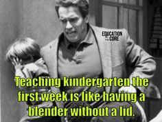 There is no better analogy for the first week of kindergarten.