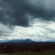 On the road #sky #clouds #Alps #mountains #nature #storm #berchtesgaden #germany #travel