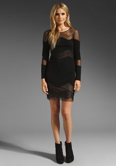 BCBGMAXAZRIA Lace Dress in Black