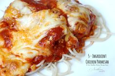 5 Ingredient Chicken Parmesan A family favorite that's Trim Healthy Mama friendly!