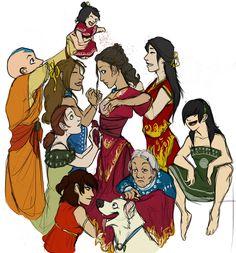 On her wedding day. by *Pugletz on deviantART Avatar Aang, Avatar The Last Airbender Art, Team Avatar, Fire Nation, Air Bender, Zuko, Pli, Legend Of Korra, Manga Comics