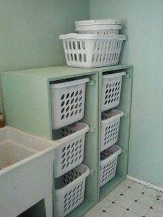 Laundry or anywhere organizing idea
