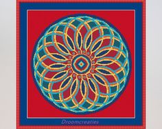 Mandala Teardrops groen download kruissteek door Droomcreaties